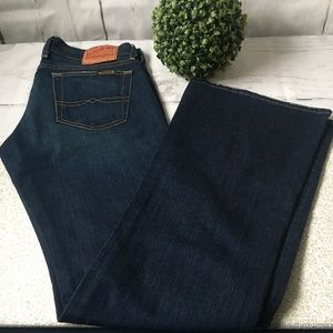 Lucky Brand Lil Maggie Jean Low Rise Dark Flares